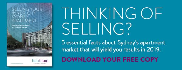 Selling your inner city Sydney apartment